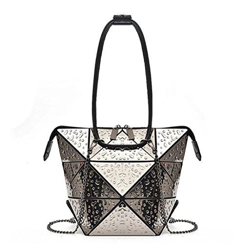 Bolso de Bolso pequeño la de Handbag Brillante Mujeres Color Las de Compras Bolsa 4 de deformable Hombro rombal A Hombro Bolso de OdTdInqa