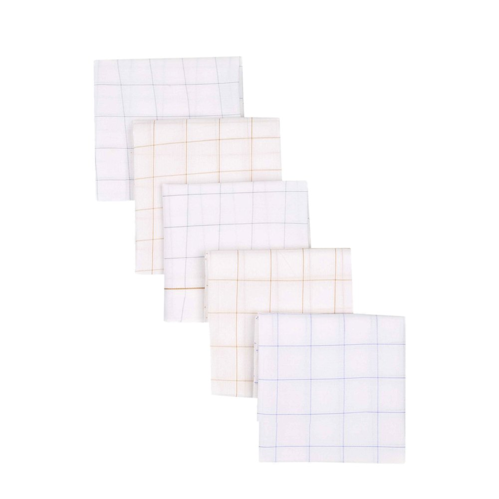 VETTORIO FRATINI by Shoppers Stop Mens Chequered Handkerchief - Pack Of 5