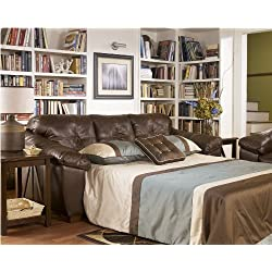 San Lucas 8370239 Queen Sofa Sleeper with Pillow Top Arms Innerspring Mattress and 3 Loose Seat Cushions in Harness