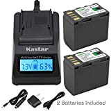 Kastar Ultra Fast Charger(3X faster) Kit and Battery (2-Pack) for JVC BN-VF823, BN-VF823U work with JVC Everio GS-TD1, GY-HM70U, GY-HM100U, GY-HM150U, GZ-HMZ1U, GZ-MG230, GZ-MG255, GZ-MG275, GZ-MG330, GZ-MG335, GZ-MG340, GZ-MG360, GZ-MG365, GZ-MG430, GZ-MG435, GZ-MG465, GZ-MG555, GZ-MG575, GZ-MG630, GZ-MG650, GZ-MG670, GZ-MG680, GZ-MG730, GZ-MS100, GZ-MS120, GZ-MS130, GZ-HD3, GZ-HD5, GZ-HD6, GZ-HD7, GZ-HD10, GZ-HD30, GZ-HD40, GZ-HD300, GZ-HD320, GZ-HM1, GZ-HM200, GZ-HM400, GZ-X900r Cameras