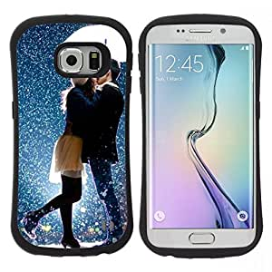 "Pulsar iFace Series Tpu silicona Carcasa Funda Case para Samsung Galaxy S6 EDGE , Beso de la nieve Pareja dulce romántico"""
