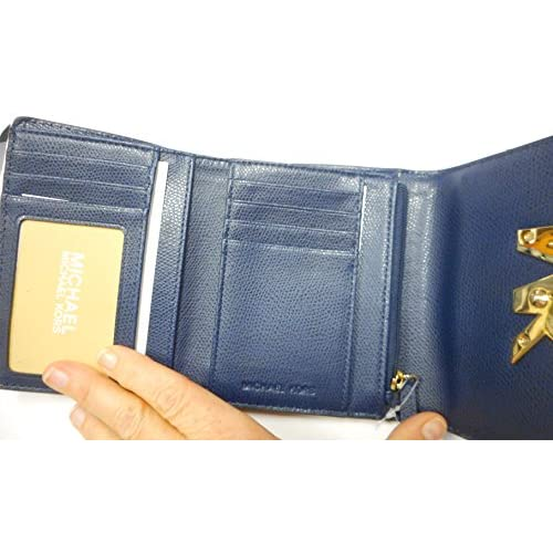 244d534c4ba2 Michael Kors Florence Trifold Wallet in Navy Leather lovely - www ...