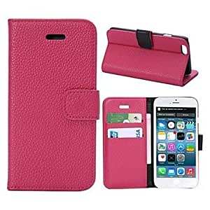 LCJ Litche Lines Full Body Leather Cover with Card Slot for iPhone 6 (Assorted Colors) , White