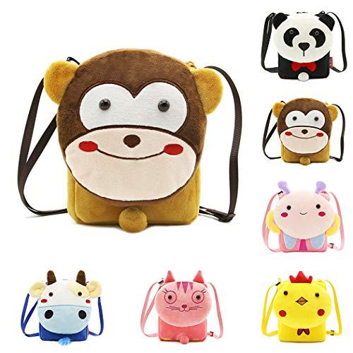 Crossbody Bag Coafit À Lovely Pattern Creative Brown Bandoulière Pour Main Enfants Sac Animal 80r48g