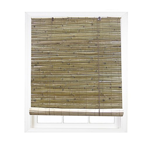Radiance 0108104 Laguna Bamboo Shade Roll Up Blind, Natural, 48-Inch Wide by 72-Inch Long (48 Inch Wide Rolls)