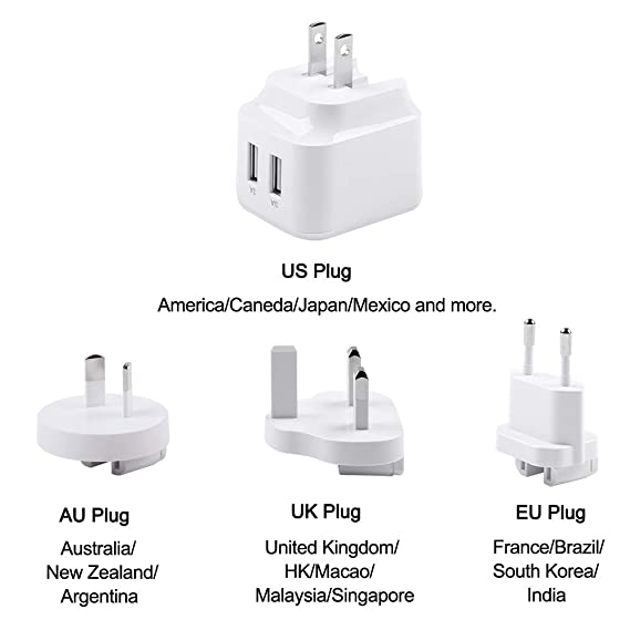 Amazon.com: Ruishion - Cargador de viaje rápido USB de 31 W ...