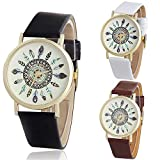 Zaidern Unisex Women Wrist Watch Womens Fashion Design Analog Quartz Classical Leather Watches Ladies Casual Simple Round Dial Leather Band Belt Wristwatch Luxury Business Retro Watches for Women