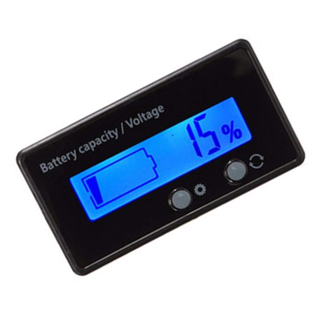 Uzinb 12V-48V Lead-acid Lithium LCD Voltmeter Meter Battery Capacity Tester Indicator Analyzer 12V 24V 48V