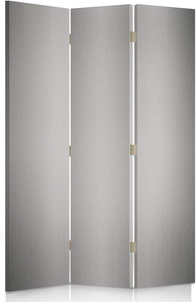 Feeby Frames Biombo Impreso sobre Lona, tabique Decorativo para Habitaciones, a una Cara, de 3 Piezas (110x150 cm), Fondo, Gris, Blanco, Papel Pintado: Amazon.es: Hogar