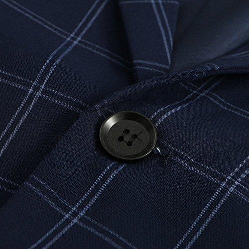 Hanayome Men's 3 PC Casual Stylish Suit Blazer Jacket Tux Vest & Trousers