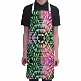 Funny Aprons for Women Abstract Triangles Pattern BBQ Cooking Apron Kitchen Gift