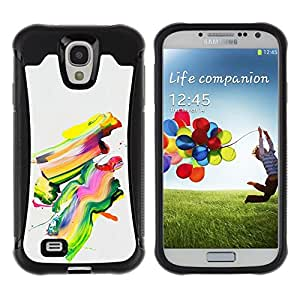 Suave TPU GEL Carcasa Funda Silicona Blando Estuche Caso de protección (para) Samsung Galaxy S4 IV I9500 / CECELL Phone case / / Colorful Painting Abstract Art Modern Paint Brush /