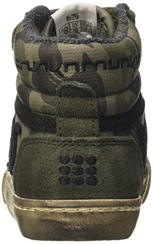 Military Camu a Boston Bambino DrunknMunky Alto Sneaker Green Collo Verde 687tqx