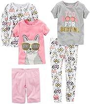 Carter's Girls 5-Piece Cotton Pajama Set Pajama