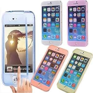 SHOUJIKE iPhone 6 Plus compatible Transparent Full Body Cases , Black