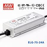 Meanwell ELG-75-24A Power Supply - 75W 24V 3.15A - Adjustable - IP65