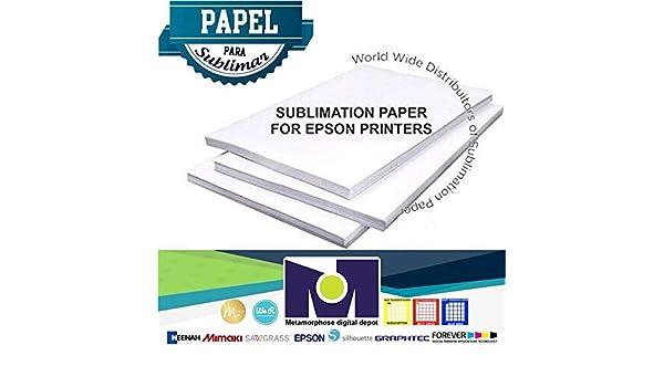 """Papel de Sublimación 50 Sheets 8.5""""x11"""" Dye Sublimation Heat Transfer Paper"""