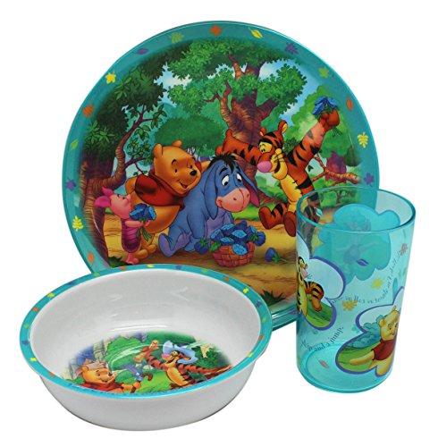 Disney Winnie The Pooh Dinnerware Set x 3 pcs (W / Clear Hand ()