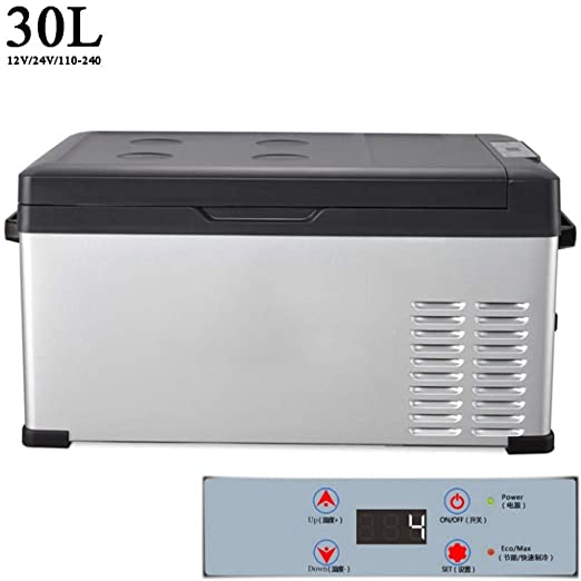 30L Nevera Portatil 12V Compresor 24V 220V Nevera Electrica ...
