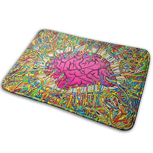 DENETRI DYERHOWARD Bath Mat Brain Lines Non Slip Bath Rug Washable Bathroom Soft Kitchen Floor Door Mat