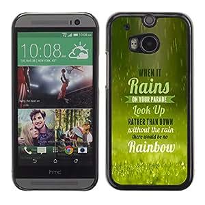 EJOY---Cubierta de la caja de protección la piel dura para el / HTC One M8 / --La lluvia trae el arco iris