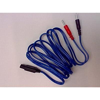 I-Tech LYMPHOPRESS–Câble à fiche Bleu pour T-One manchons électrostimulation