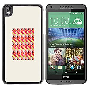 Paccase / SLIM PC / Aliminium Casa Carcasa Funda Case Cover para - Peach Pink Frame Pattern - HTC DESIRE 816
