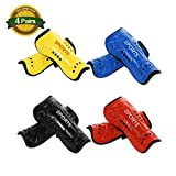 4 Pairs Youth Soccer Shin Guards Child Calf Protective Gear Soccer Equipment for Boys Girls Children