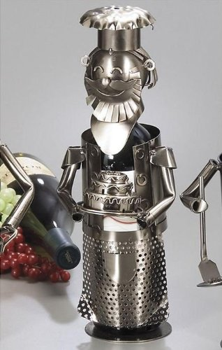 WINE BODIES ZB550 Cake Baker Metal Wine Bottle Holder, Charcoal