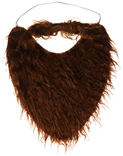 Jacobson Hat Company Men's Beard with Elastic, Brown, One -