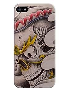 First Design iphone Best Durable Plastic Terror Skull iphone 5/5s Case LarryToliver #2