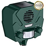 Hoont Solar Ultrasonic Rodent Repellent Outdoor Animal and Pest Repeller Deterrent -Motion Activated/Repel Deer, Squirrels, Rabbits, Rats, Etc- Scares Away All Outdoor Pests & Animals [UPGRADED]