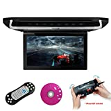 XTRONS® 10'' HD Digital TFT Monitor Car Roof Flip Down Overhead DVD Player Touch Panel Game Disc with HDMI Port