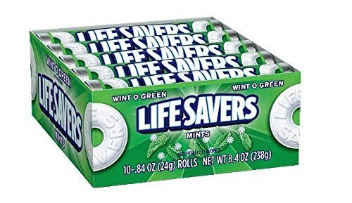 LifeSavers Wint-O-Green Mints, 0.84-Ounce Rolls (Pack of 60)(uscandyonline)