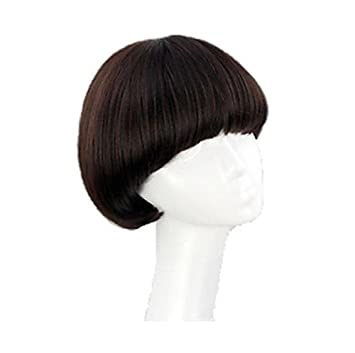Incredible Amazon Com Womens Short Full Bang Wig Mushroom Hairstyle Cosplay Hairstyle Inspiration Daily Dogsangcom
