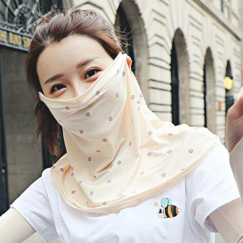 MOCHOEL Sun Mask Face Scarf Shields Neck Gaiter Summer Hiking Sun Dust UV Protection UPF 50+UV Block Protective Breathable Lightweight Anti Slip for Women Outdoor Hiking Cycling Running Driving