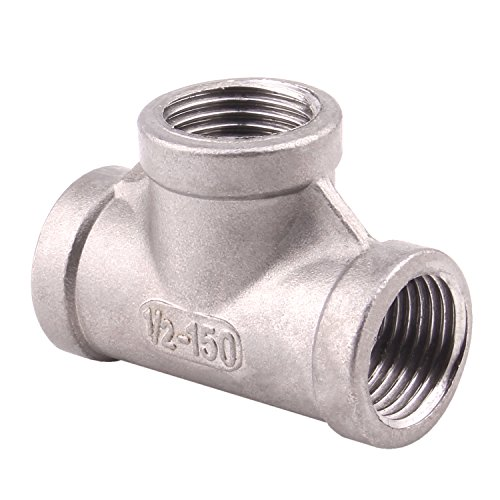 Stainless Steel 304 Cast Pipe Fitting, Tee, Class 150, 1/2 NPT Female