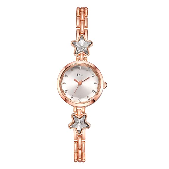 Allskid Mujer Relojes Elegante Delgado Acero Correa de Reloj ...
