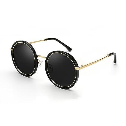 YQ QY Retro Gafas Redondas Vasos Prince Gafas Polarizadas Personalidad De La Moda (Color :