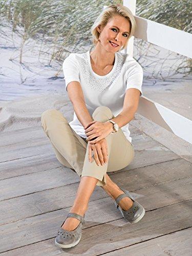 Avena Damen Luftpolster-Ballerina Samtweich Grau