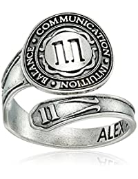 Alex and Ani Numerology Number, Sterling Silver Spoon Ring, Size 7-9