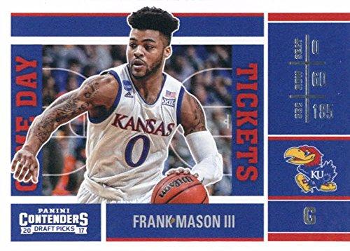 2017-18 Panini Contenders Drafts Picks Game Day Tickets #35 Frank Mason III Kansas Jayhawks Basketball Rookie Card (Game 3 Ticket)
