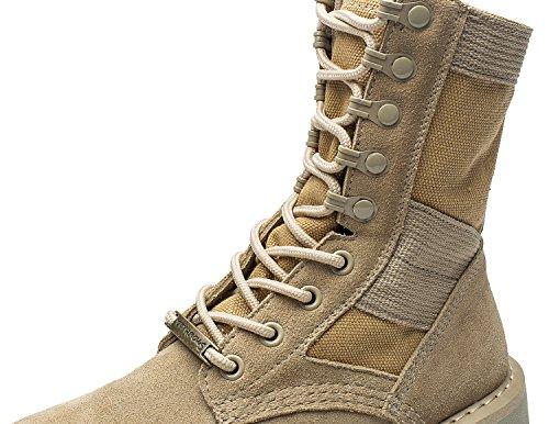uBeauty Damen Desert Boots Klassische Lederstiefel Outdoor Wanderschuhe Casual Sportschuhe Beige A