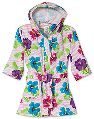 St. Eve Girls Beach Cover-Up Pink Flora, Kids Size 4