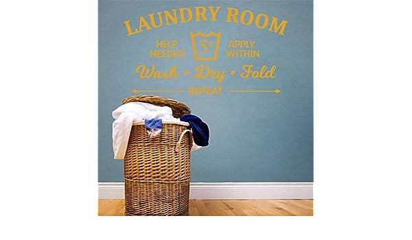 yiyiyaya Reglas de la Sala de lavandería Wash Dry Fold ...