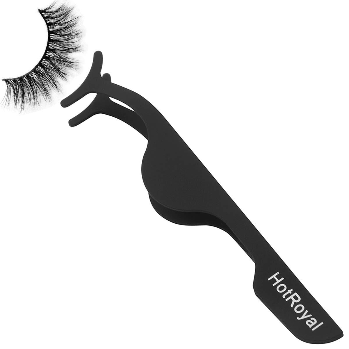 Black Stainless Steel False Eyelash Curlers Extension Applicator Remover Clip Eyebrow Eye Lashes Tweezers Nipper Makeup Beauty Tool HorRoyal