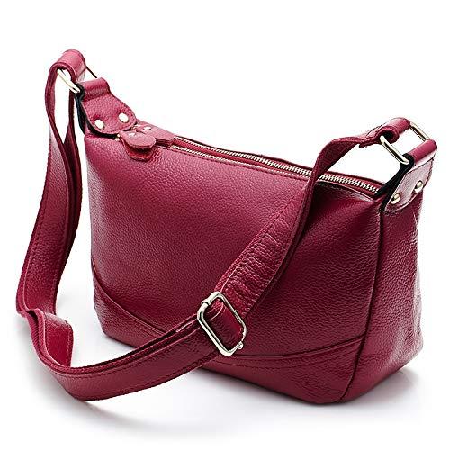 Piel Genuino De Bolso Wu Mujeres Hombro Cruzado Sintética Diseñador Cuero Red Para Zhi Bolsos Hobos q7qRUF8W
