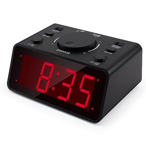 Bon ITronics LED Digital Alarm Clocks For Bedroom/Heavy Sleepers With 1.2u201d  Display 3 Adjustable
