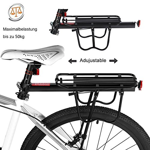Bike Cargo Racks Bicycle Pannier Rack Mountain Carrier Rear Rack Seat Load 50Kg Luggage Bags for Cycling Camping Sport by Calar (Image #3)