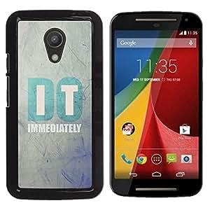 """Motorola G 2ND GEN II , JackGot - Impreso colorido protector duro espalda Funda piel de Shell (Se cita de motivación de texto minimalista"""")"""